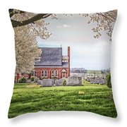 Harbaugh Church In The Spring Throw Pillow