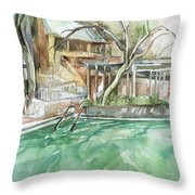 Harbin Hotsprings Pool Throw Pillow