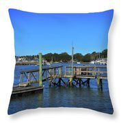 Harbor At Mcclellanville, Sc Throw Pillow