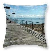 Harbor Beach Lake Huron Michigan Throw Pillow