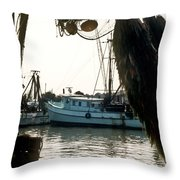 Harbor Boats Throw Pillow