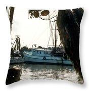 Harbor Boats Throw Pillow
