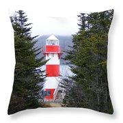 Harbor Breton Lighthouse Throw Pillow