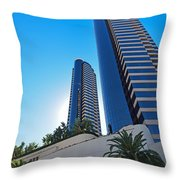 Harbor Club Towers Throw Pillow