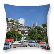 Harbor In Salvador Da Bahia Brazil Throw Pillow