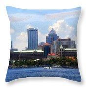 Harbor Island Florida Throw Pillow