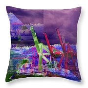 Harbor Island Workhorses Throw Pillow