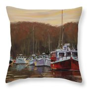 Harbor Lights - Annapolis Morning Throw Pillow