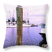 Harbor Master Throw Pillow