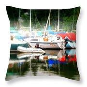 Harbor Masts Throw Pillow