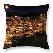 Harbor Night Throw Pillow