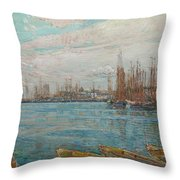 Harbor Of A Thousand Masts Throw Pillow