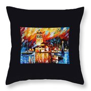 Harbor Of Excitement Throw Pillow