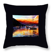 Harbor Of Messina - Sicily Throw Pillow