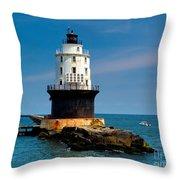 Harbor Of Refuge Delaware Throw Pillow