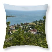Harbor Opening Throw Pillow