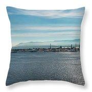 Harbor Panorama  Throw Pillow