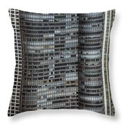 Harbor Point Condominium In Chicago Throw Pillow