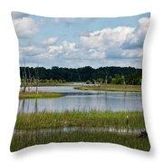 Harbor River Throw Pillow