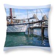 Harbor Scene Key West Throw Pillow