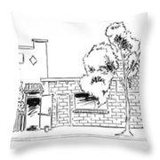 Harbor Street - North Throw Pillow