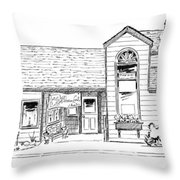 Harbor Street - South Throw Pillow