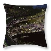 Harbour At Night Throw Pillow