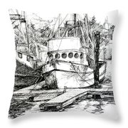 Harbour Boats Throw Pillow