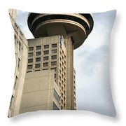 Harbour Centre Vancouver Throw Pillow