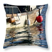 Harbour Reflections 3 - June 2015 Throw Pillow