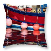 Harbour Reflections 5 - June 2015 Throw Pillow
