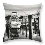 Harbour Scene Throw Pillow