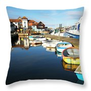 Harbour Side  Throw Pillow
