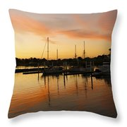 Harbour Sun Set Throw Pillow