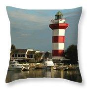 Harbour Town Light Hilton Head South Carolina Throw Pillow