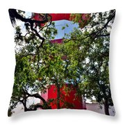 Harbour Town Lighthouse Throw Pillow by Lisa Wooten