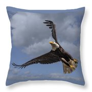 Hard Banking Eagle Throw Pillow