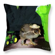 Hard Day Plowing Throw Pillow