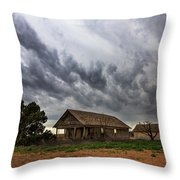 Hard Days - Abandoned Home On West Texas Plains Throw Pillow