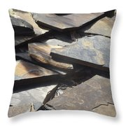 Hard Edge Throw Pillow