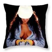 Hard Hat-2a Throw Pillow