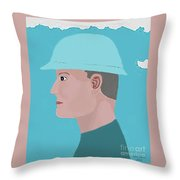 Hard Hat Oil Field Throw Pillow