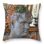 Hard Headed Man Throw Pillow