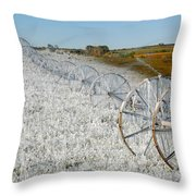 Hard Land Farming Throw Pillow