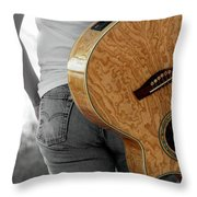 Hard Luck Throw Pillow by Elizabeth Hart