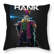 Hard Luck Hank--stank Delicious--back Throw Pillow