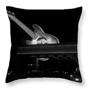 Hard Rock Cafe Sign 2 B-w Throw Pillow