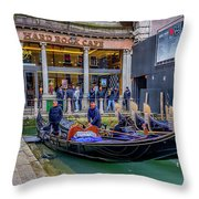 Hard Rock Cafe Venice Gondolas_dsc1294_02282017 Throw Pillow