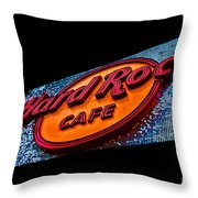 Hard Rock Hollywood Throw Pillow