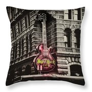 Hard Rock Philly Throw Pillow